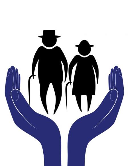 Elderly care depiction