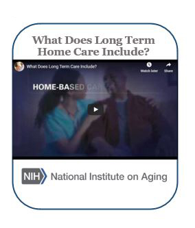 what does long term home care include
